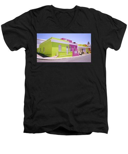 Bo Kaap Color Men's V-Neck T-Shirt by Shaun Higson