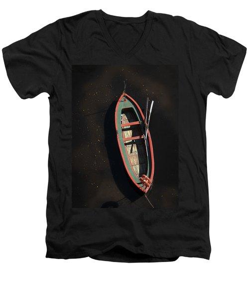 Boat Men's V-Neck T-Shirt by Silvia Bruno