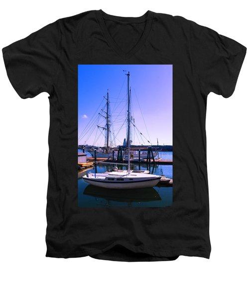 Boats And Ships Men's V-Neck T-Shirt