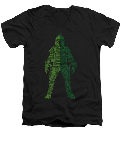 Boba Fett - Star Wars Art, Green 02 Men's V-Neck T-Shirt