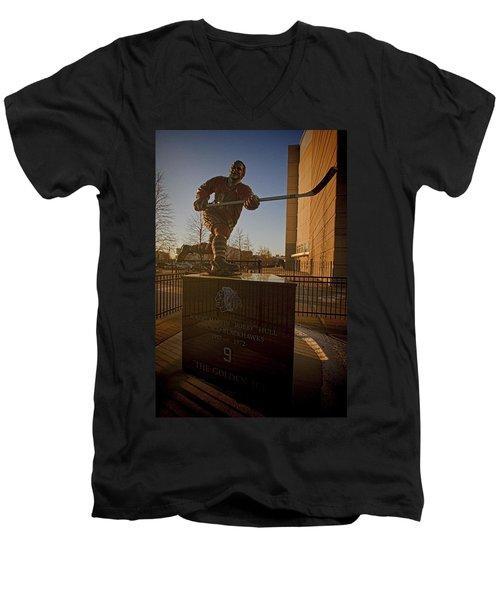 Bobby Hull Sculpture Men's V-Neck T-Shirt