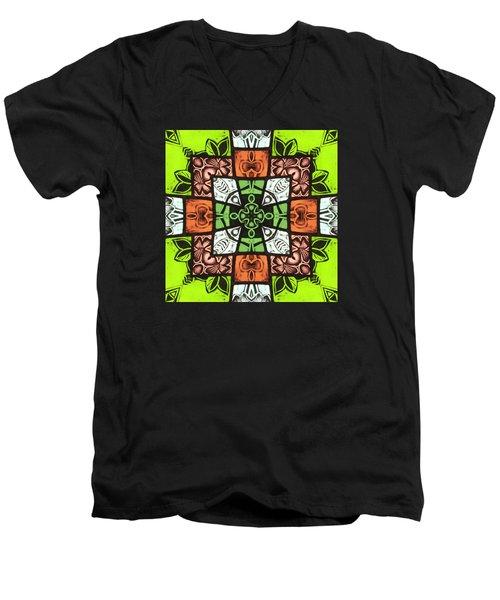Boho Blocks Men's V-Neck T-Shirt