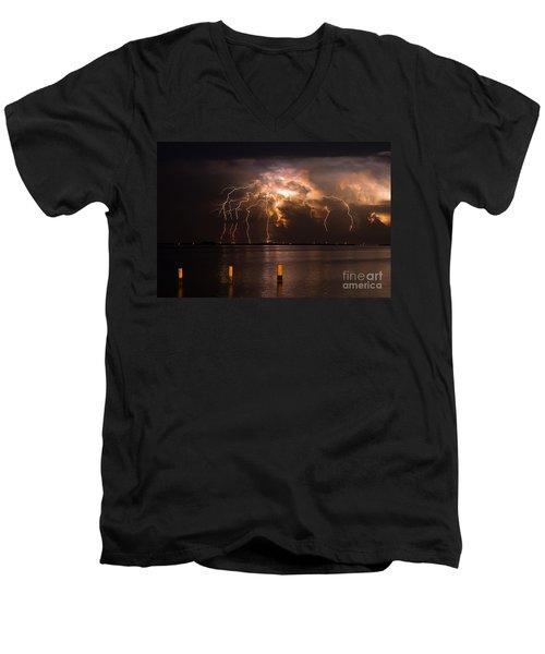 Boiling Energy Men's V-Neck T-Shirt by Quinn Sedam