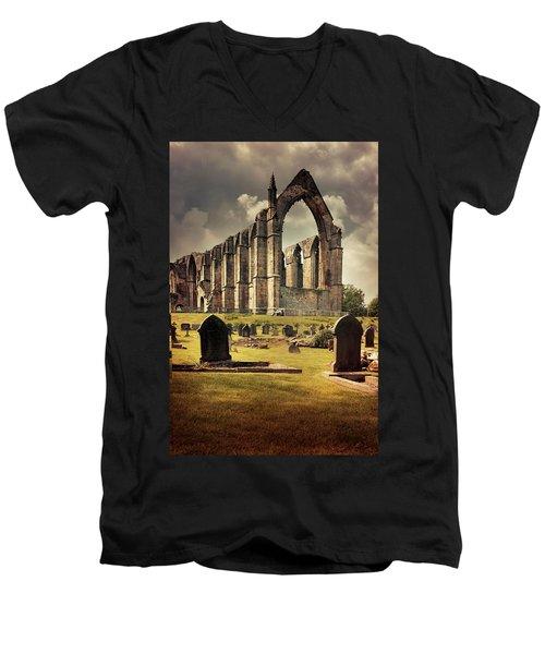 Bolton Abbey In The Uk Men's V-Neck T-Shirt by Jaroslaw Blaminsky