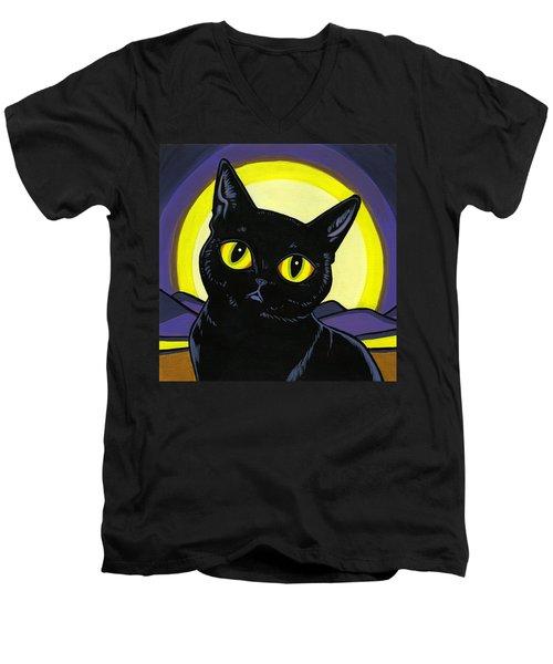 Bombay Moon Men's V-Neck T-Shirt by Leanne Wilkes