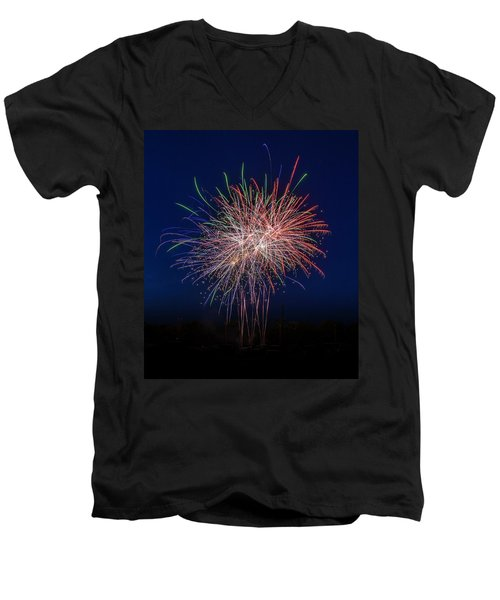 Bombs Bursting In Air Men's V-Neck T-Shirt
