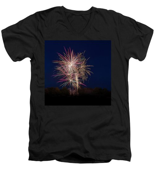 Bombs Bursting In Air IIi Men's V-Neck T-Shirt