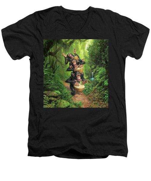 Bongo In The Jungle Men's V-Neck T-Shirt