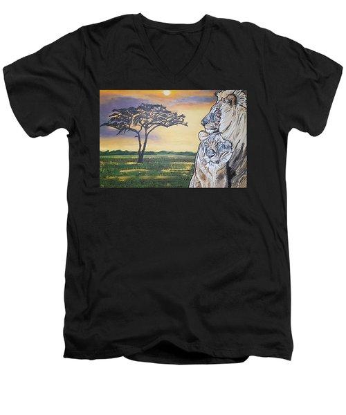 Bonnie And Clyde Men's V-Neck T-Shirt
