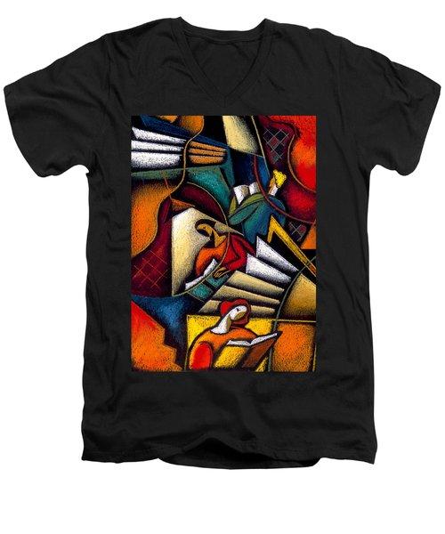 Book Men's V-Neck T-Shirt by Leon Zernitsky