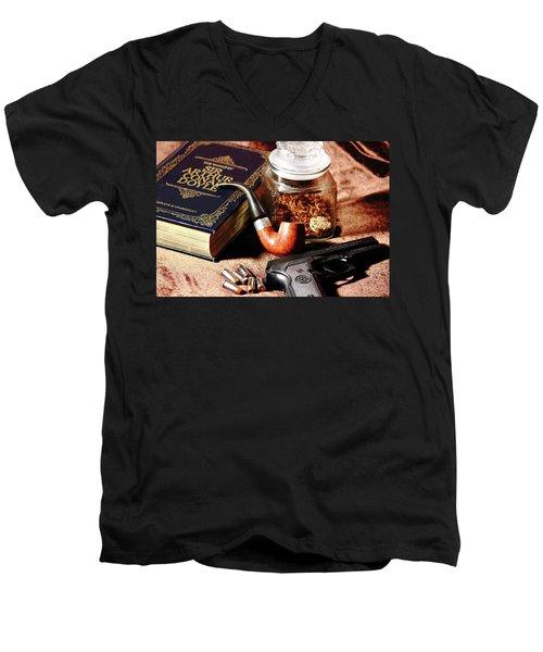 Books And Bullets Men's V-Neck T-Shirt