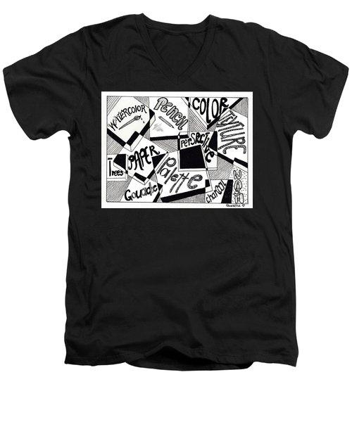 Books And Words Men's V-Neck T-Shirt