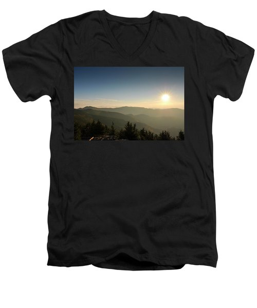 Boone Nc Area Sunset Men's V-Neck T-Shirt