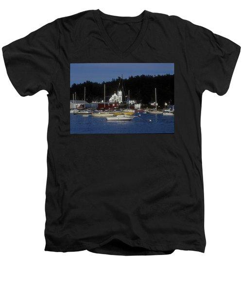 Boothbay Harbor Maine 2 Men's V-Neck T-Shirt