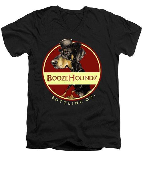 Boozehoundz Bottling Co. Men's V-Neck T-Shirt by John LaFree