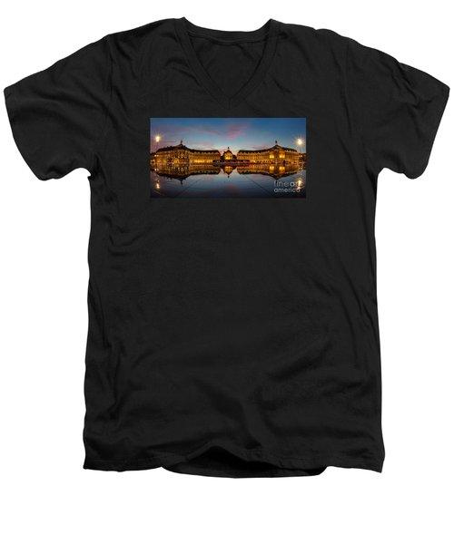 Bordeaux Reflections Men's V-Neck T-Shirt