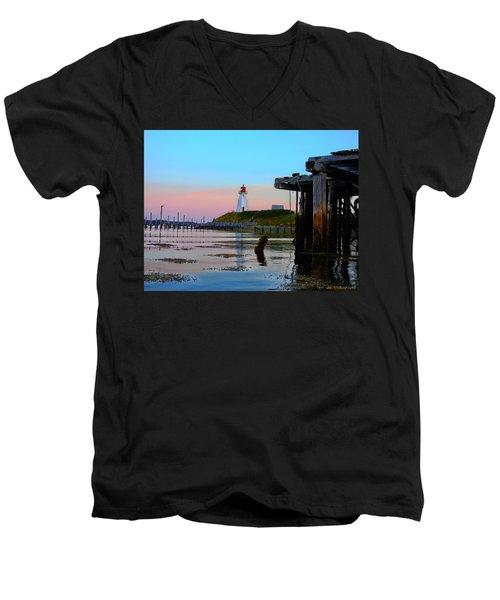 Border Lights Men's V-Neck T-Shirt