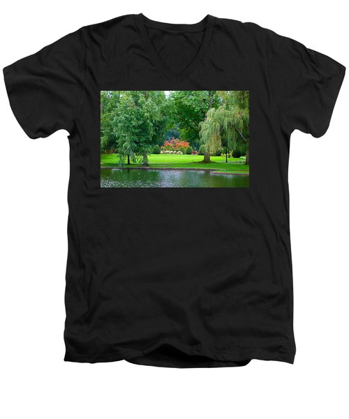 Boston Common Study 3 Men's V-Neck T-Shirt