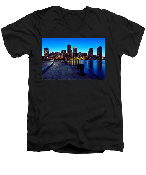 Boston Harbor Walk Men's V-Neck T-Shirt