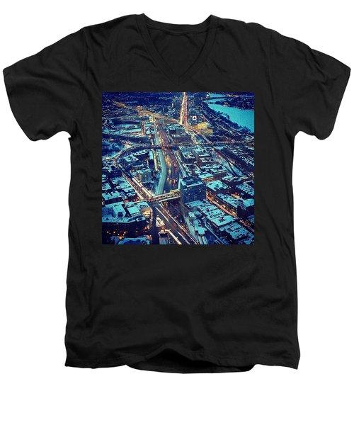 Landmarks Men's V-Neck T-Shirt