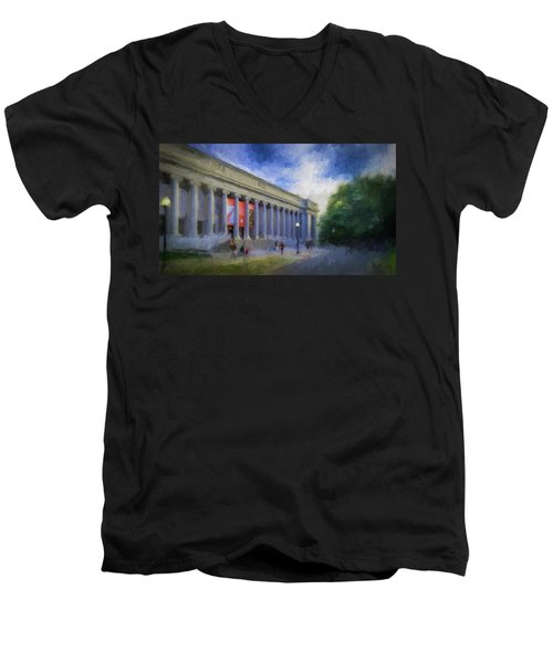 Boston Mfa On The Fenway Men's V-Neck T-Shirt