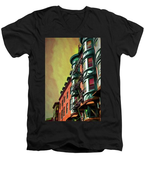 Boston's Famous North Square Men's V-Neck T-Shirt