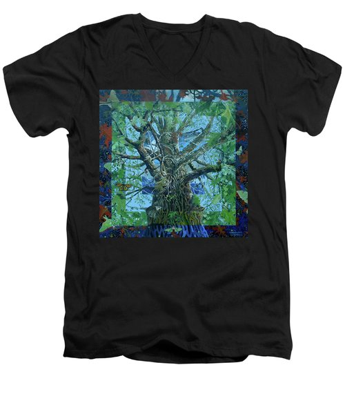 Boundary Series Xvi Men's V-Neck T-Shirt