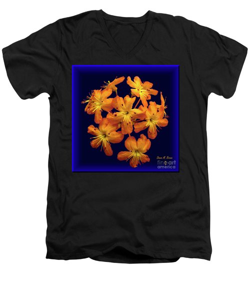 Men's V-Neck T-Shirt featuring the digital art Bouquet In A Box by Donna Brown