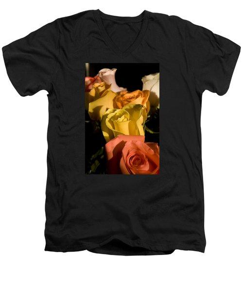 Bouquet In Line Men's V-Neck T-Shirt