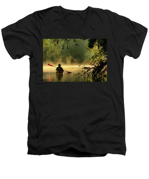 Bourbeuse River  Men's V-Neck T-Shirt by Robert Charity