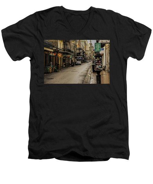 Bourbon Street By Day Men's V-Neck T-Shirt