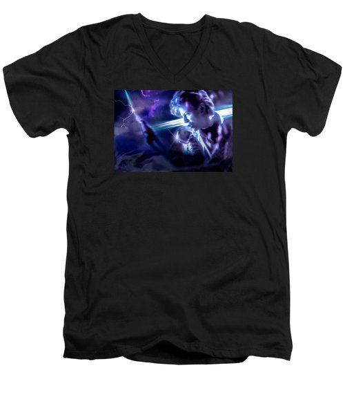 Bowie A Trip To The Stars Men's V-Neck T-Shirt