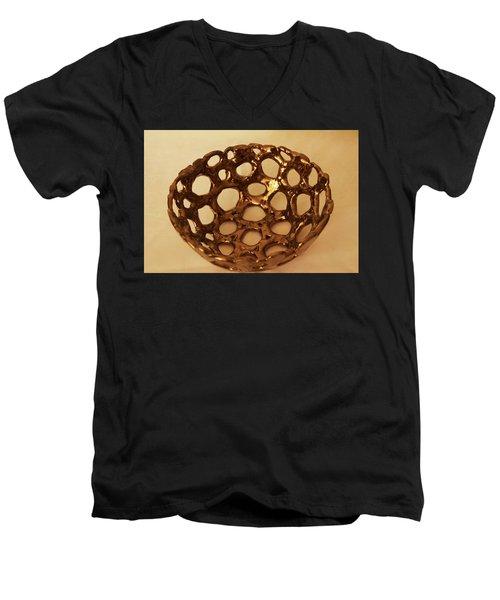 Bowle Of Holes Men's V-Neck T-Shirt by Itzhak Richter