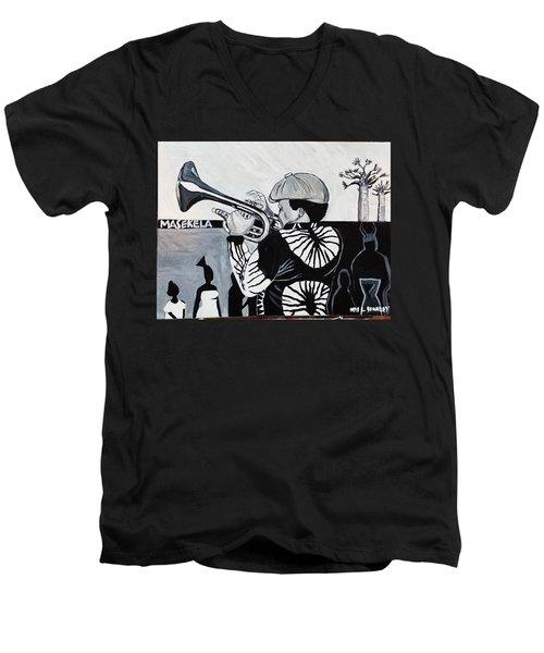Bra Hugh Masekela Men's V-Neck T-Shirt