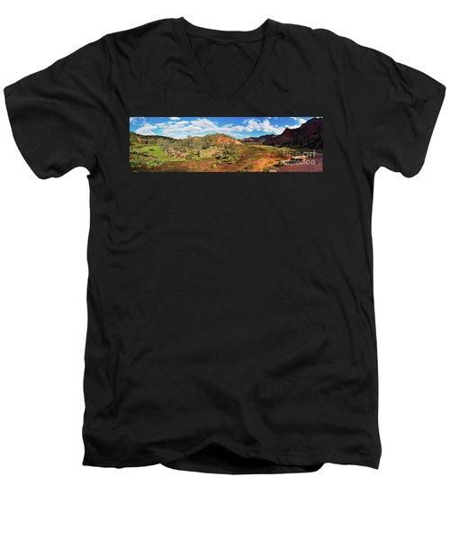 Bracchina Gorge Flinders Ranges South Australia Men's V-Neck T-Shirt by Bill Robinson