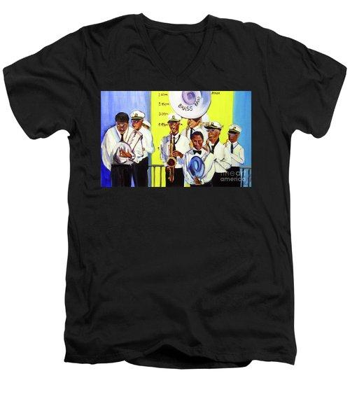 Brass Of  Class New Orleans Men's V-Neck T-Shirt