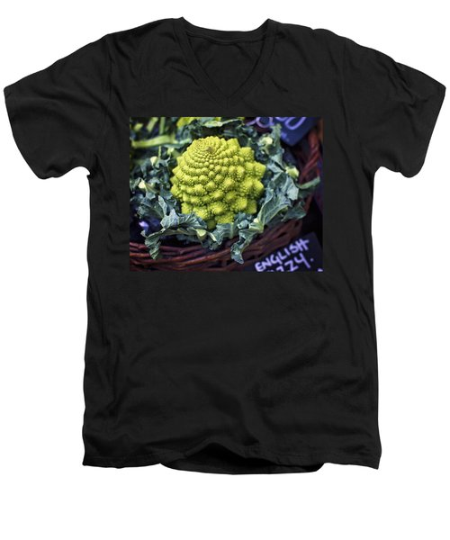 Brassica Oleracea Men's V-Neck T-Shirt by Heather Applegate
