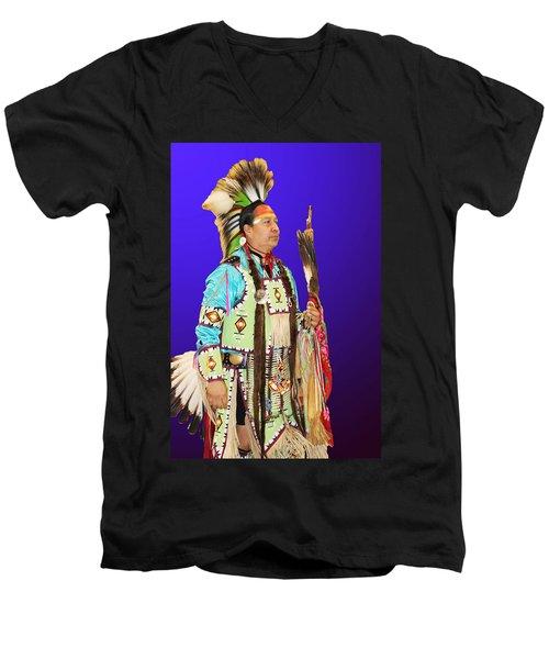 Brave-2 Men's V-Neck T-Shirt by Audrey Robillard