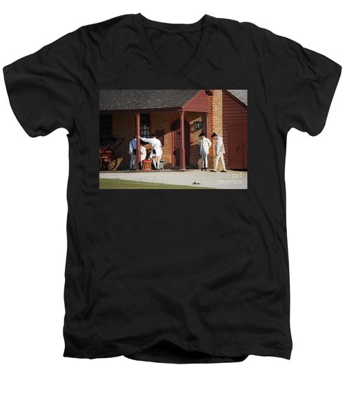 Break Time Men's V-Neck T-Shirt by Eric Liller
