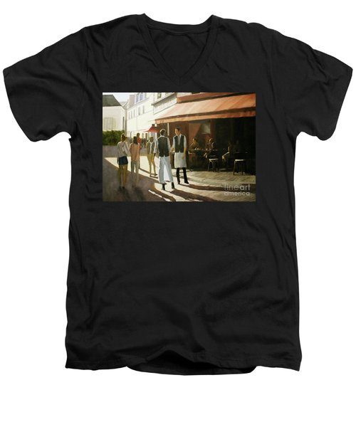 Break Time Men's V-Neck T-Shirt