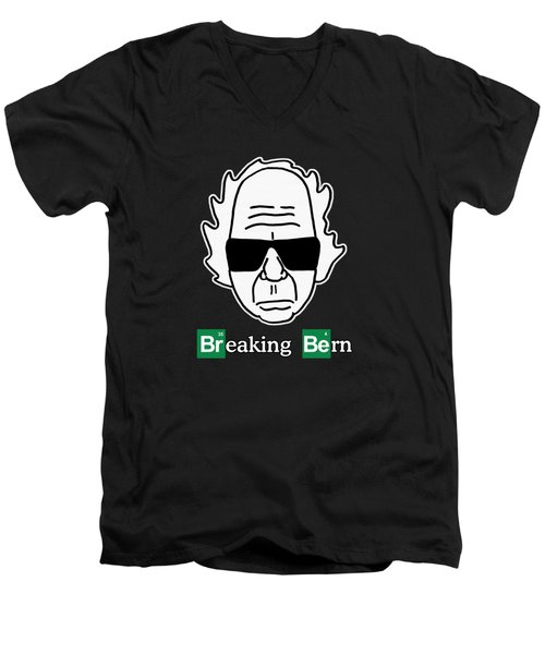 Breaking Bern -letters Outlined Men's V-Neck T-Shirt by Sean Corcoran