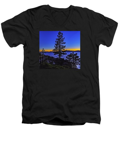 Men's V-Neck T-Shirt featuring the photograph Breaking The Rules by Nancy Marie Ricketts