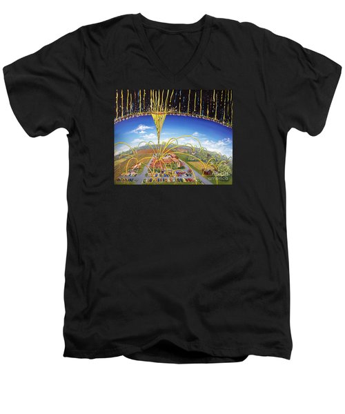 Breakthrough Men's V-Neck T-Shirt by Nancy Cupp