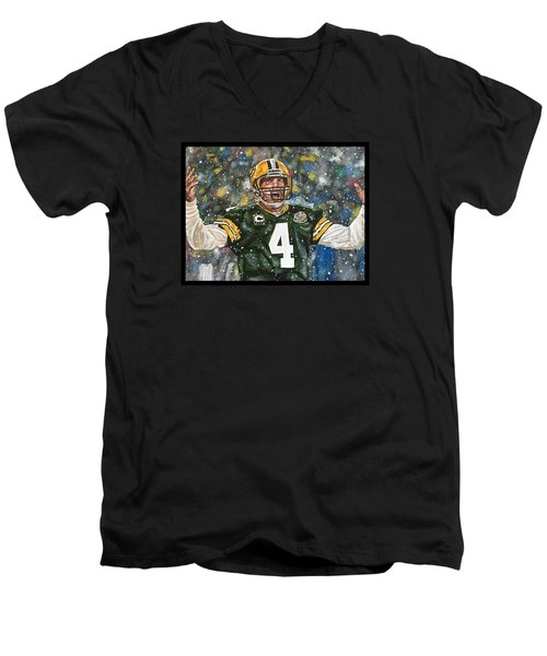 Brett Favre Men's V-Neck T-Shirt