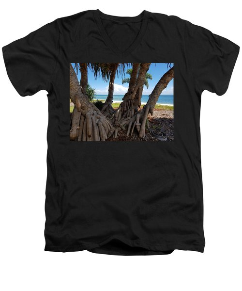 Bribie Trees  Men's V-Neck T-Shirt