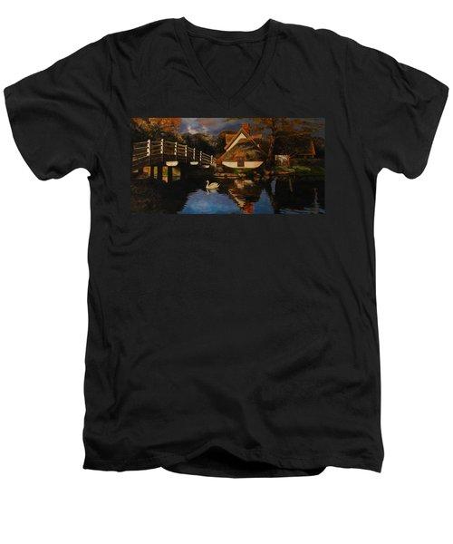 Bridge Cottage Men's V-Neck T-Shirt