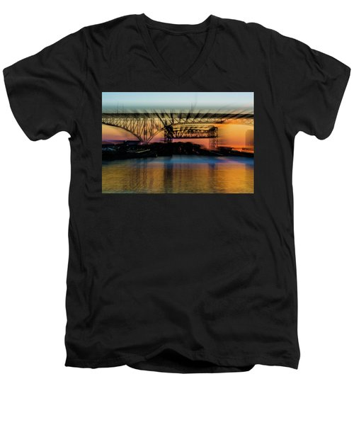 Bridge Motion Men's V-Neck T-Shirt
