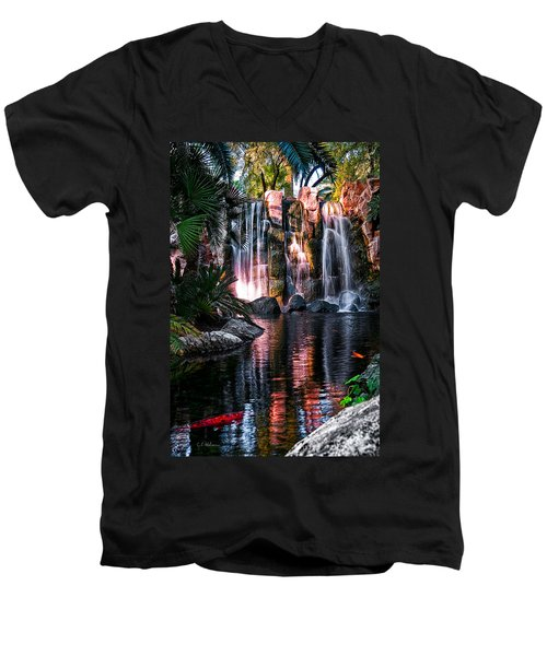 Bright Waterfalls Men's V-Neck T-Shirt
