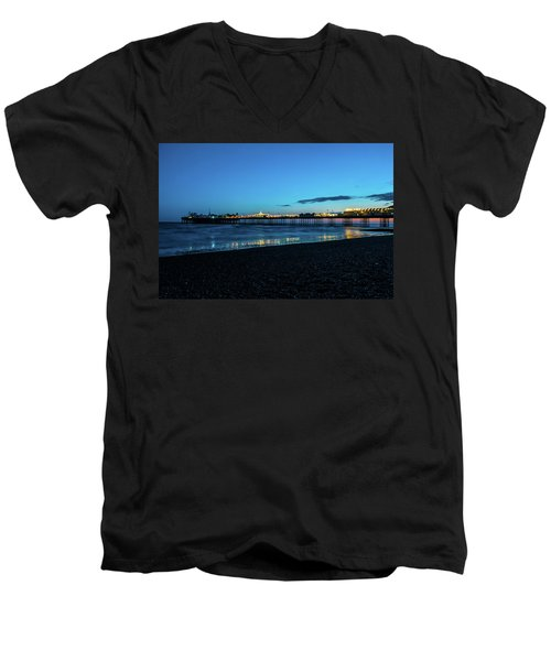 Brighton Pier At Sunset Ix Men's V-Neck T-Shirt