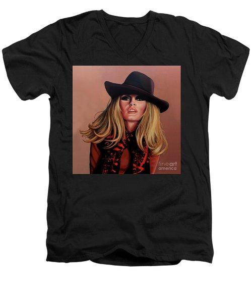 Brigitte Bardot Painting 1 Men's V-Neck T-Shirt